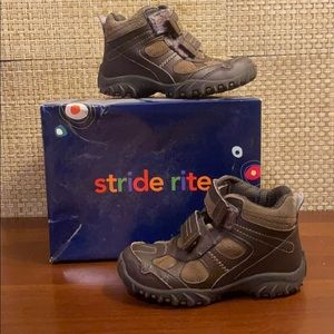 Stride Rite Randell Brown Leather/Suede Hikers 11M